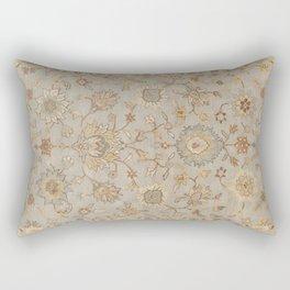 Antique Persian Floral Medallion Vector Painting Rectangular Pillow