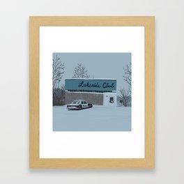 Lakeside Club Framed Art Print