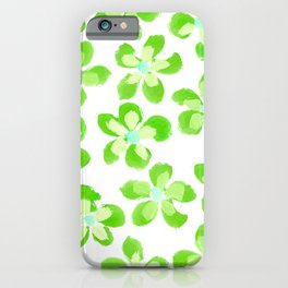 Posey Power - Electric Lime Multi iPhone Case