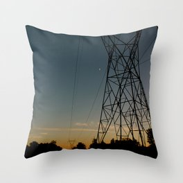 Industrial Sunset Throw Pillow