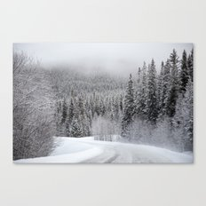 Snow Covered Road Canvas Print