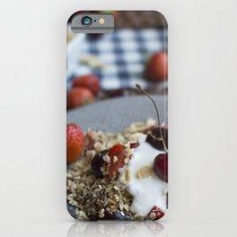 Granola with cherries iPhone Case