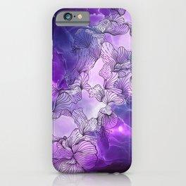 Simplify Purple at Night iPhone Case