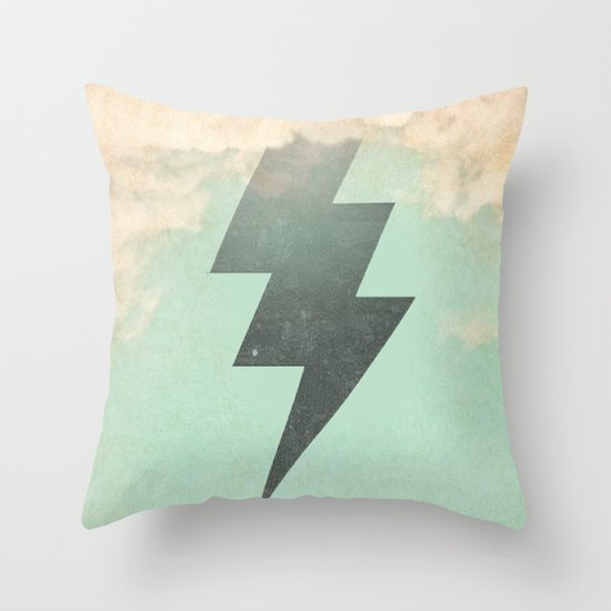 Bolt from the Blue Throw Pillow