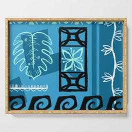 Hawaiian Pattern #1 - aqua! Serving Tray