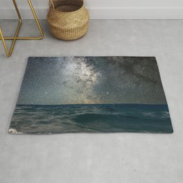Milky Way Over The Sea Rug