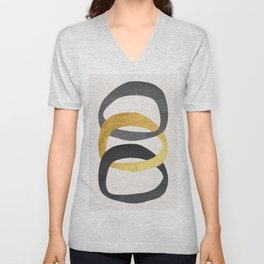 Abstract Traits II Unisex V-Neck