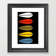 Lotus pattern focus Framed Art Print