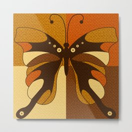 RETRO BUTTERFLY Metal Print