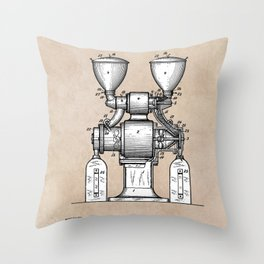 patent art Wear Combined Coffee grinder and cleaner 1911 Throw Pillow