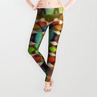 geo Leggings featuring GEO 3 by Klara Acel