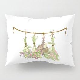 Original Herbs in Pastel Color Pillow Sham