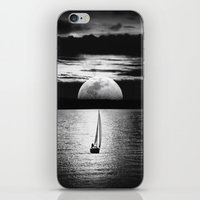 the moon iPhone & iPod Skins featuring Moon by haroulita