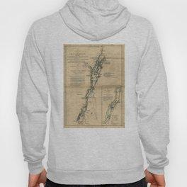 Vintage Map of Lake Champlain & Lake George (1776) Hoody