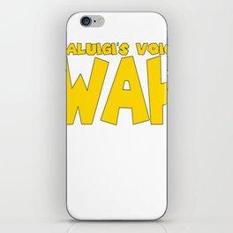 Wah (Waluigi's Voice) iPhone Skin