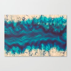 Blue Agate River of Earth Canvas Print
