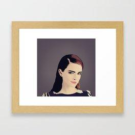 Emma Watson by Carrizo Juan Framed Art Print