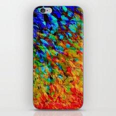 COLLISION COURSE - Bold Rainbow Splash Bricks Urban Jungle Ocean Waves Nature City Acrylic Painting iPhone & iPod Skin