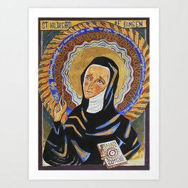 St. Hildegard of Bingen Art Print