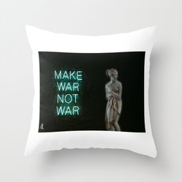 Neon Venus Throw Pillow