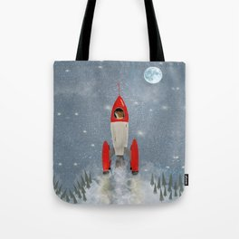 mr fox goes to the moon Tote Bag