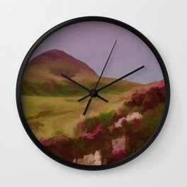 Connemara Ireland Travel Poster Vintage Style Wall Clock