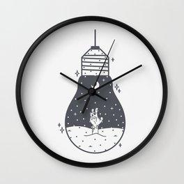 Halloween in a light bulb Wall Clock