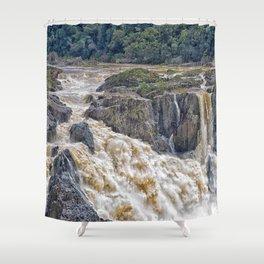Barron Falls in Queensland Shower Curtain