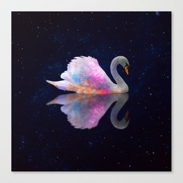 Swan Lake Galaxy Canvas Print