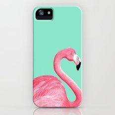Pink Flamingo iPhone (5, 5s) Slim Case