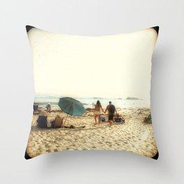 Beach Couple Throw Pillow