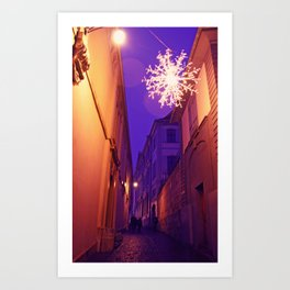 Christmas time in Basel Swiss Art Print