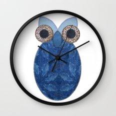 The Denim Owl Wall Clock