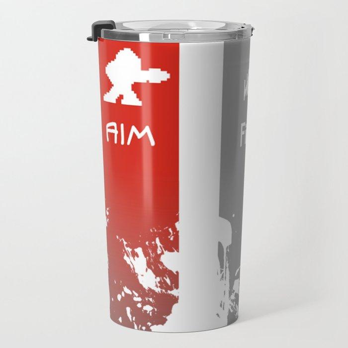 Aim, Fire, Win Travel Mug