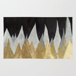 Six Snowy Trees Rug