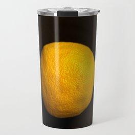 Yellow Lemon On A Black Background #decor #society6 Travel Mug