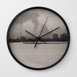 Ural urban winter Wall Clock