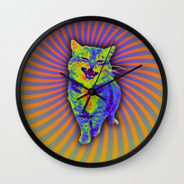 Psychedelic Kitty (remaster) Wall Clock