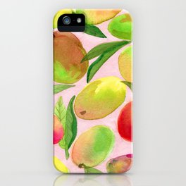 Mango Watercolor Painting iPhone Case