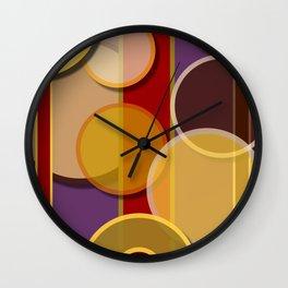 Circles, Lines & Colors Wall Clock