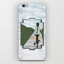 Cyclist From Behind iPhone Skin