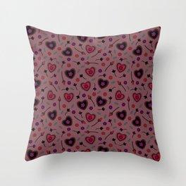 Strange Love Pattern II Throw Pillow