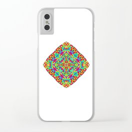 Four Owls Mandala Clear iPhone Case