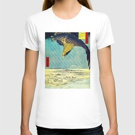 Hiroshige, Hawk Flight Over Field T-shirt