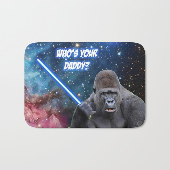 gorilla is your father Bath Mat