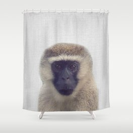 Monkey - Colorful Shower Curtain