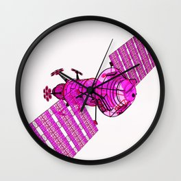 Explorer Pink on White Wall Clock