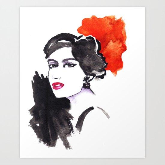 Fashion illustration portrait !! Art Print