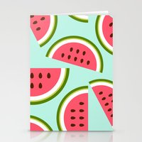 watermelon Stationery Cards featuring Watermelon by Cute Cute Cute