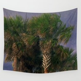 Palm Trees, Stormy Weather Wall Tapestry